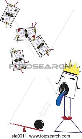 Clipart of Illustration of a queen spitting out a bowling ball.