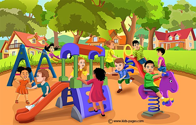 Kids Playing Outside Clipart.