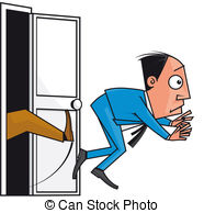 Kicked out door Stock Illustrations. 41 Kicked out door clip.