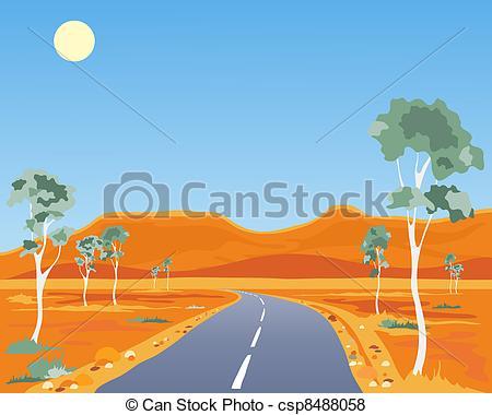 Vector of australian landscape.