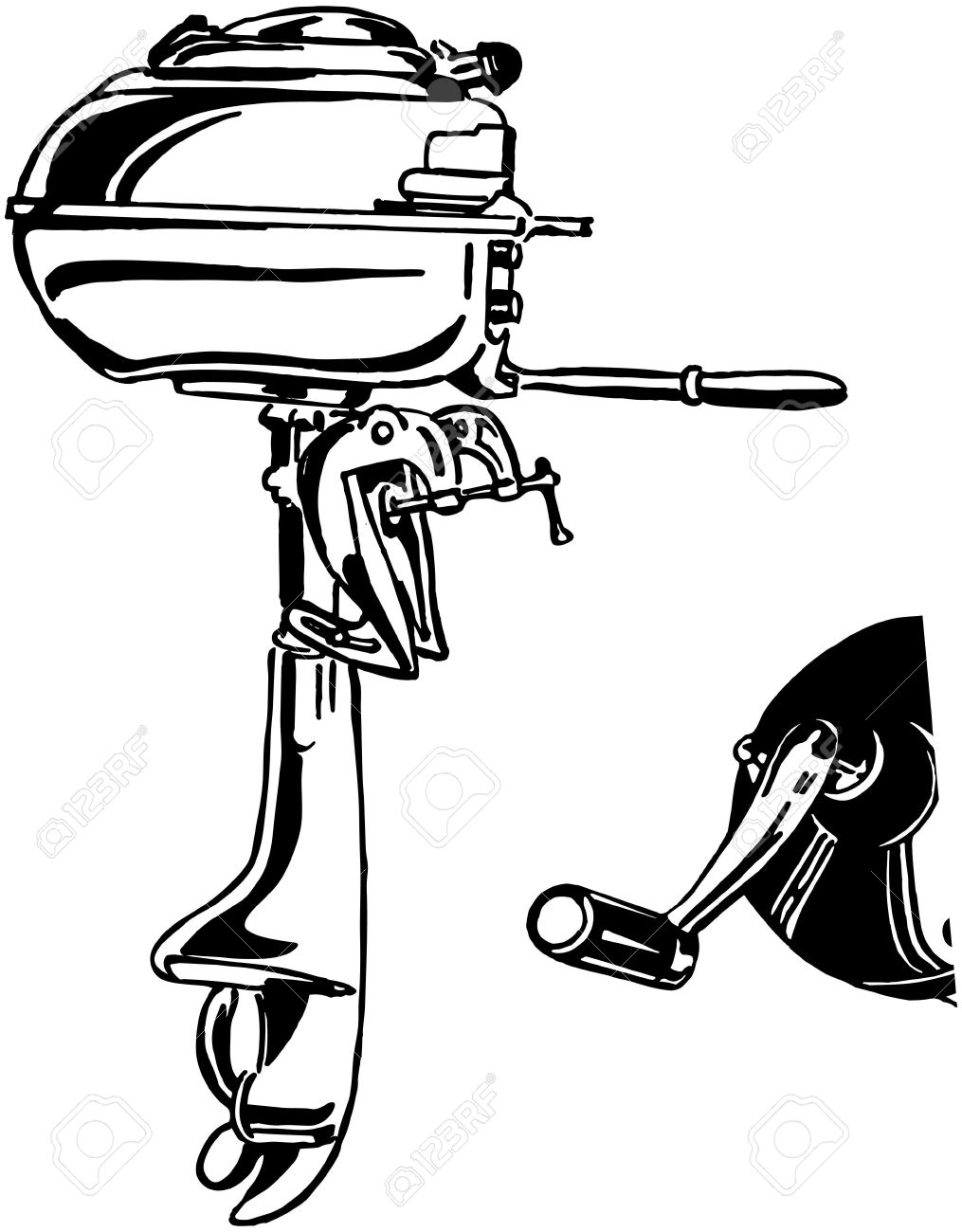 Outboard Motor Royalty Free Cliparts, Vectors, And Stock.