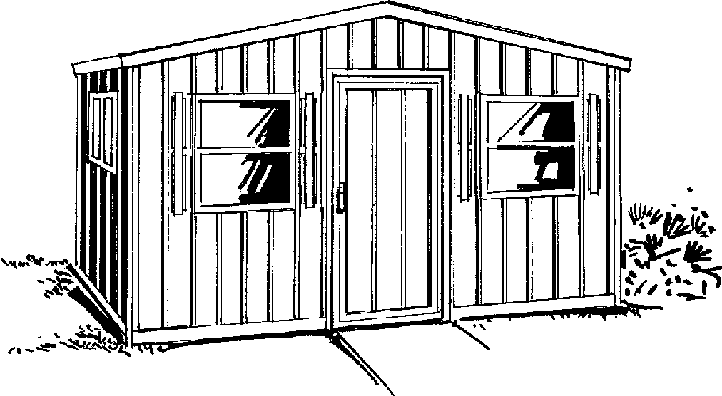 Shed Black And White Clipart.