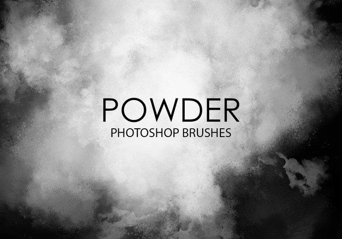 Gratis Powder photoshopborstels.