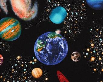 Weltraum stoff.