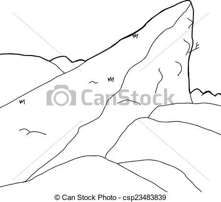 Vectors of High Mountain Outcrop.