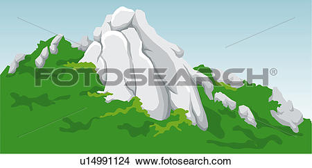 Drawings of Outcropping of Rocks u14991124.