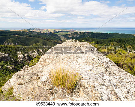 Stock Photography of Rocky outcrops of Trotters Gorge, Otago, NZ.