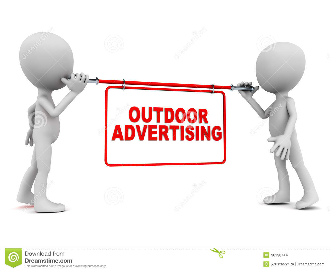Outdoor Advertising Stock Images.