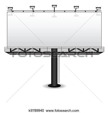 Clipart of outdoor advertising citylight k6481223.