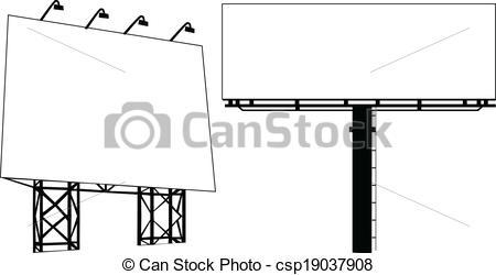 Vector Clipart of Billboard Outdoor Advertising Vector.