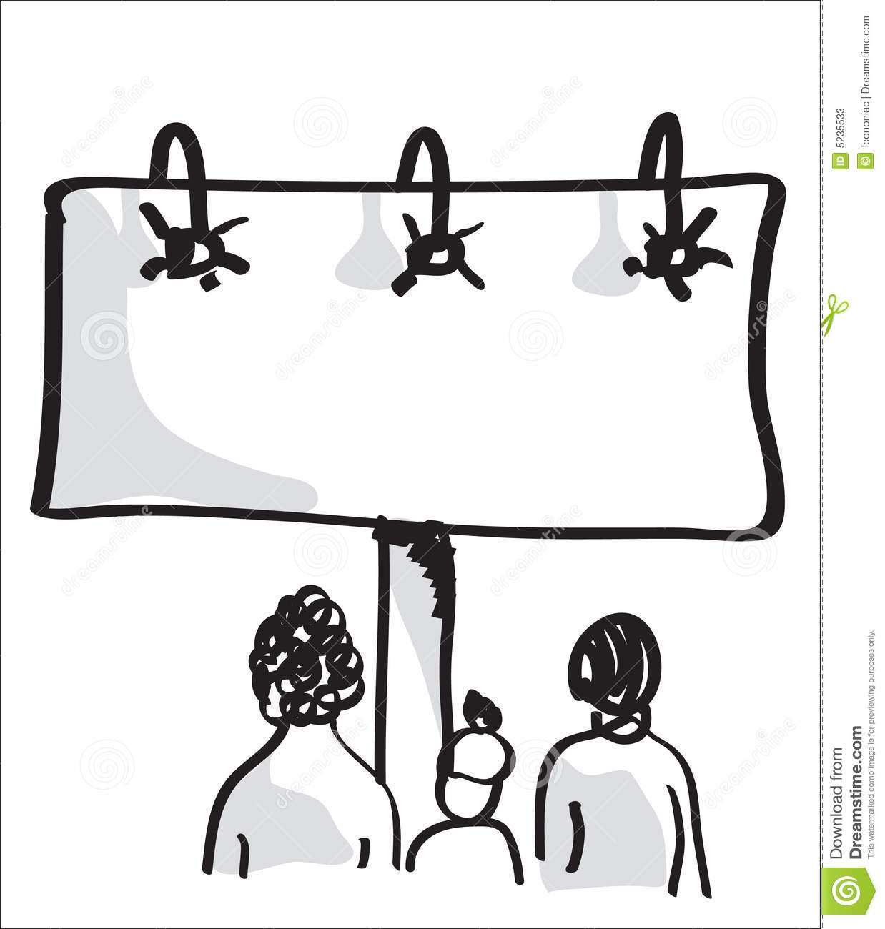 Peoples Looking To A Billboard Advertising. Stock Photos.