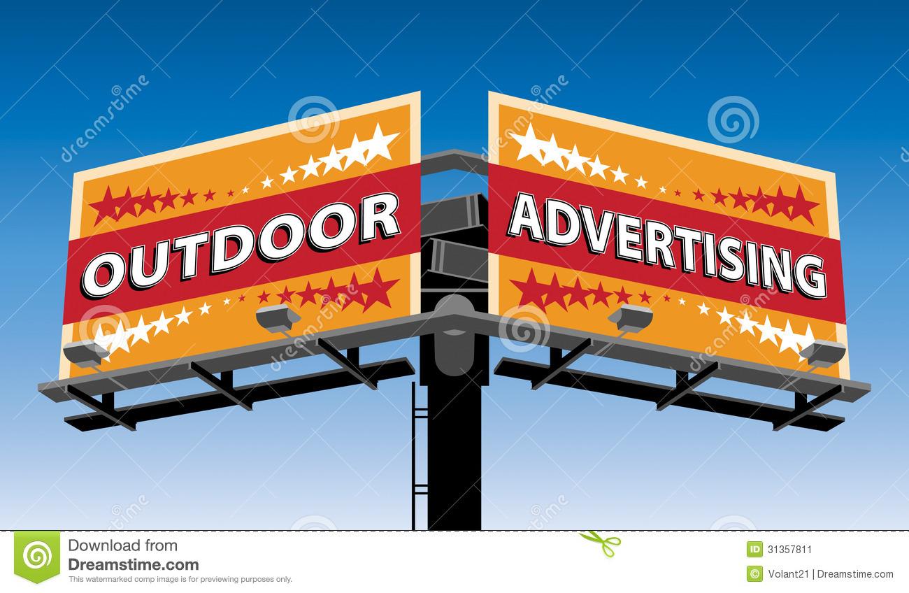 Outdoor Advertising Stock Illustrations.