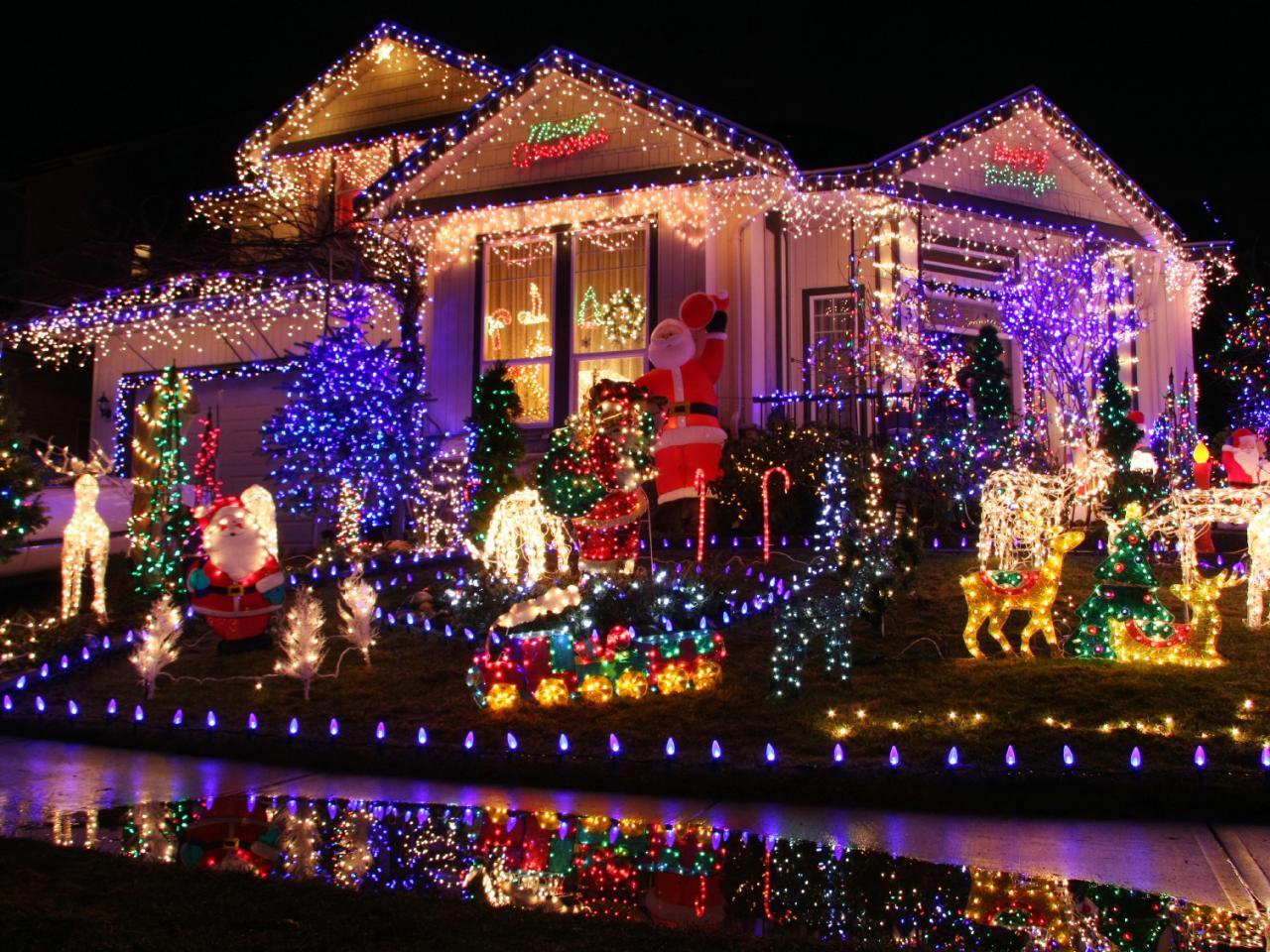 Outside Christmas Lights.