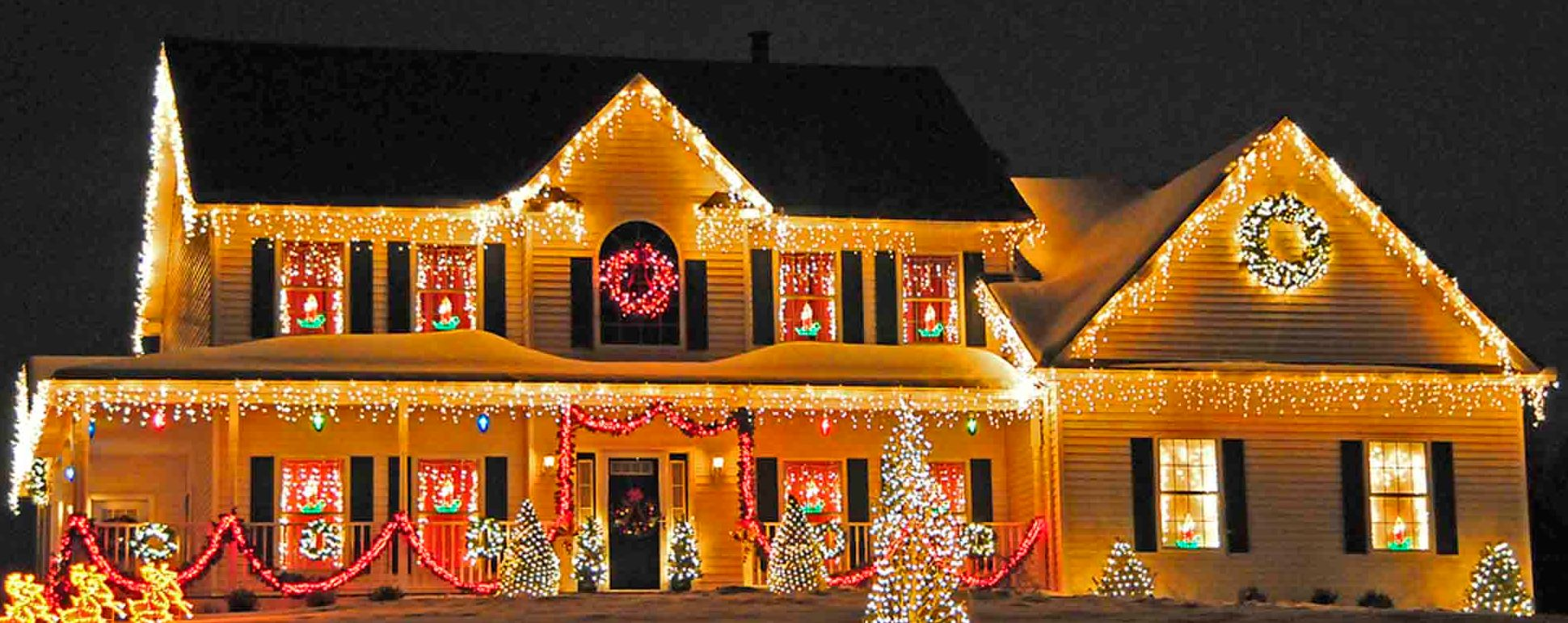 Clipart outdoor christmas lights.