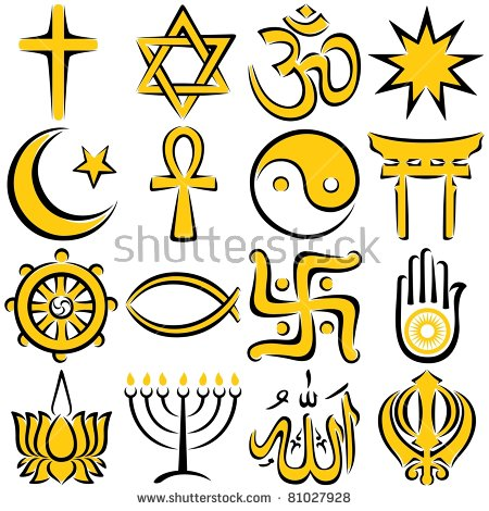 Religious Symbols Stock Images, Royalty.
