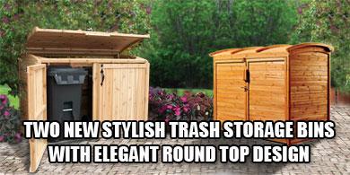 Trash can enclosure clipart.