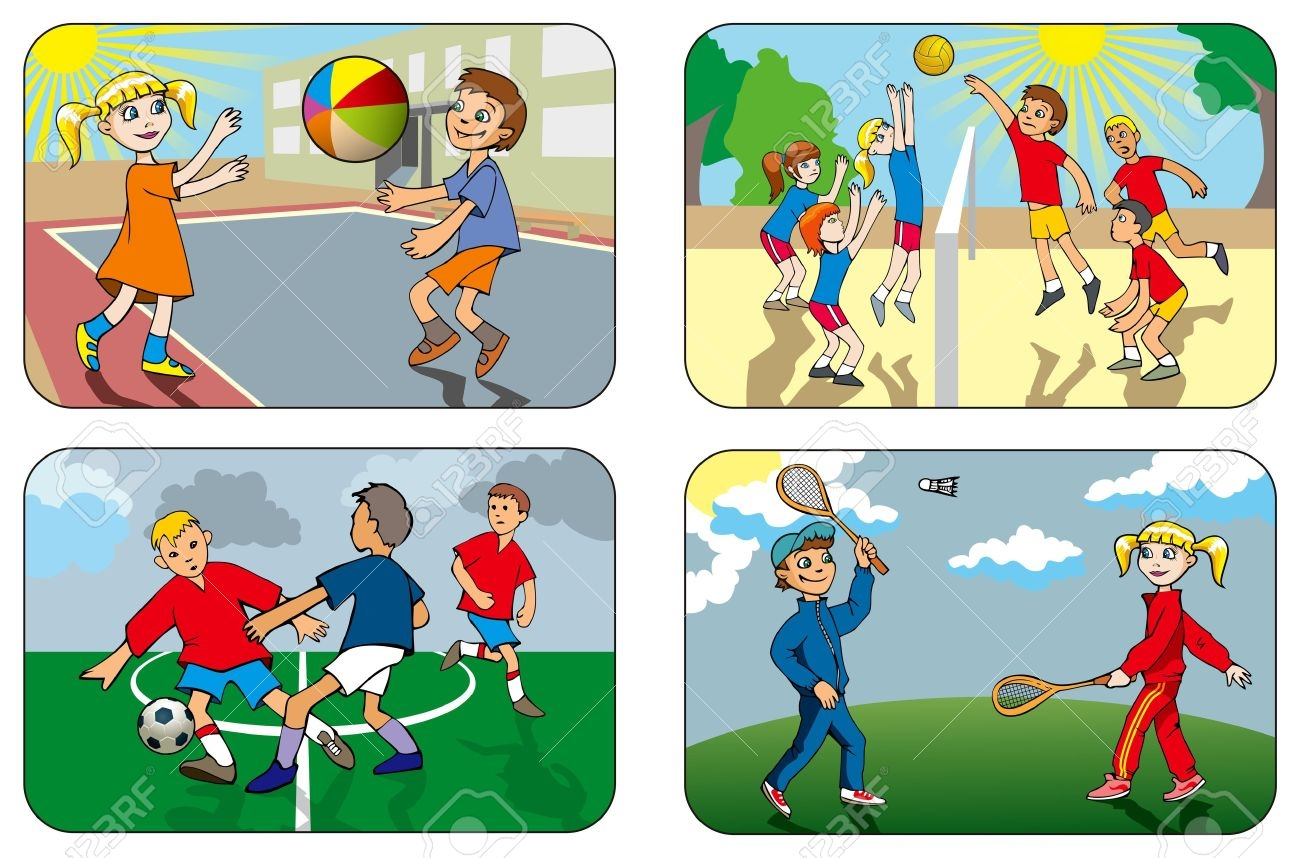 outdoor game pieces clipart