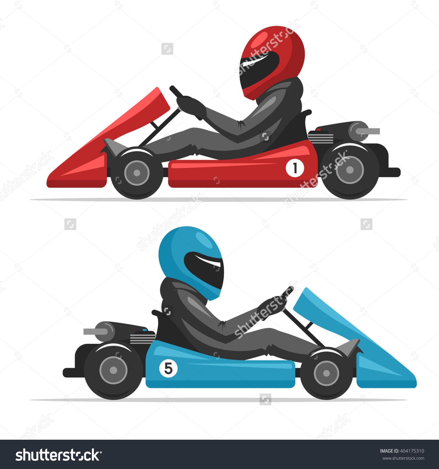 Karting Go Racing On Sport Kart Stock Vector 404175310.