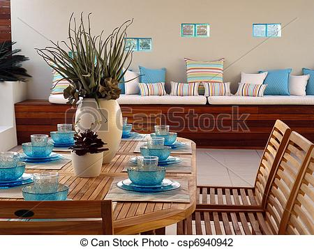 Stock Photo of Outdoor Living Area.