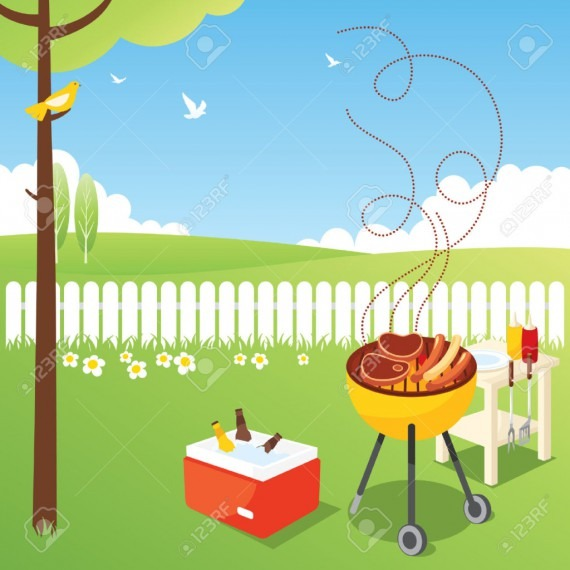 Barbecue Clipart Outdoor Party Bbq Stock.