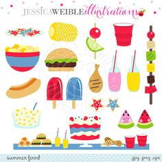 Party Clipart Backyard BBQ Clip Art Cooking Clipart Printable BBQ.