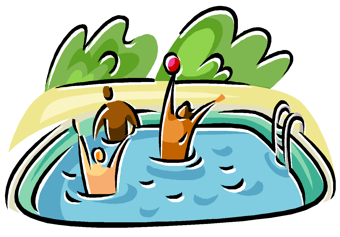 Competitive Swimming Pool Clipart 17730.