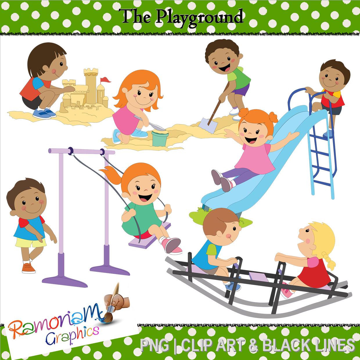 Playground Clip art by RamonaMClipArt on Etsy (null).