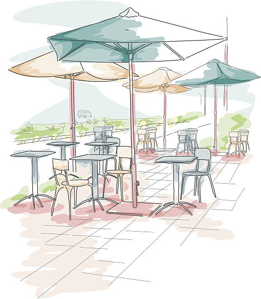 Outdoor Dining Clip Art, Vector Images & Illustrations.