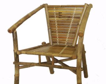 Bamboo chair.