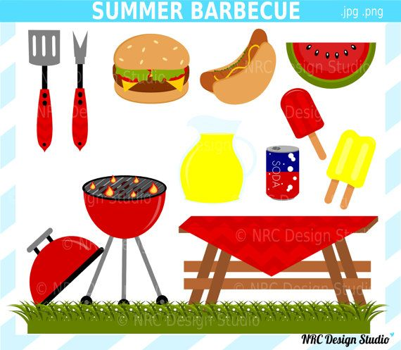 bbq clipart digital clip art outdoors summer.
