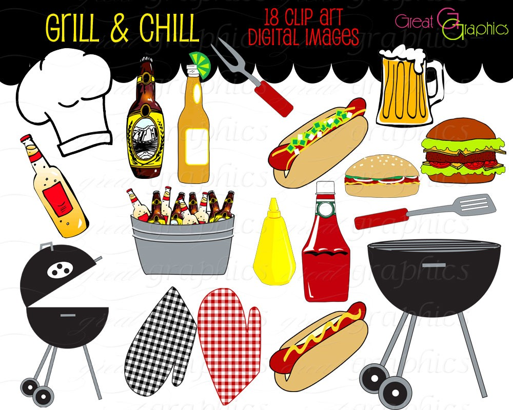 Backyard Party Clipart.