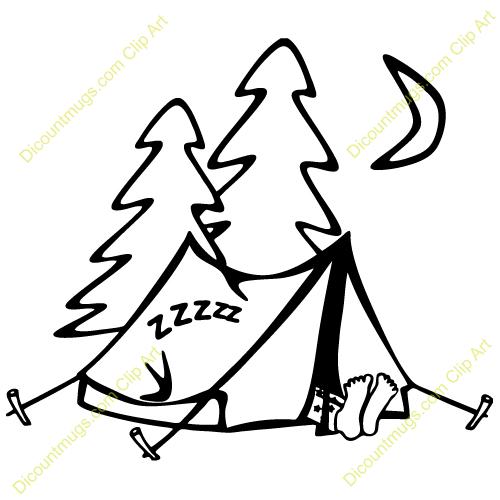 Sleeping Outdoors Clip Art.