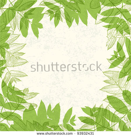 Leaf Border Stock Photos, Royalty.
