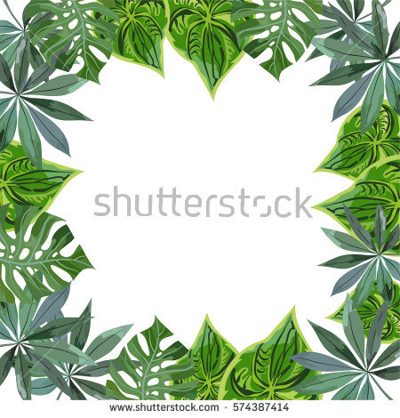 Leaves Border Stock Images, Royalty.