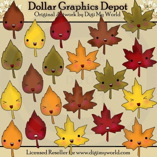 Kawaii Fall Leaves.