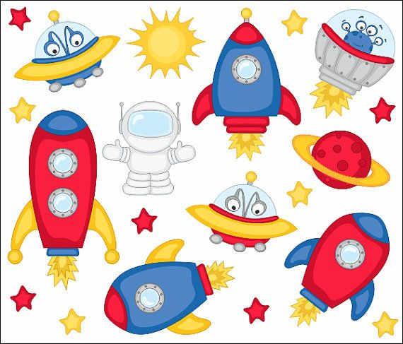 Outer space clipart for kids.