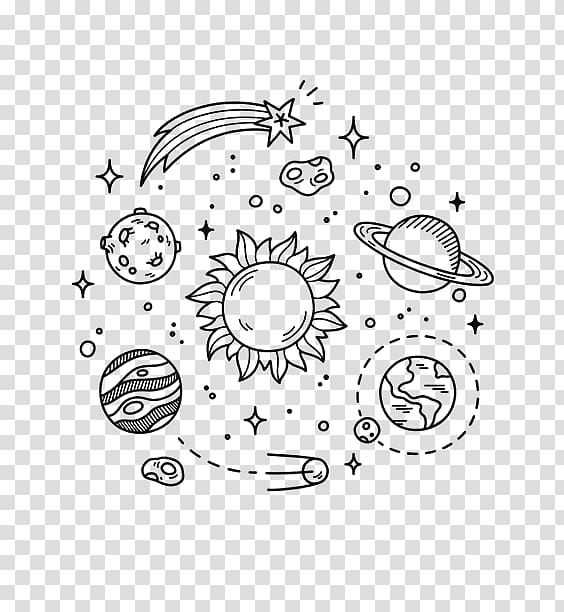 Earth Doodle Outer space Drawing Planet, earth transparent.
