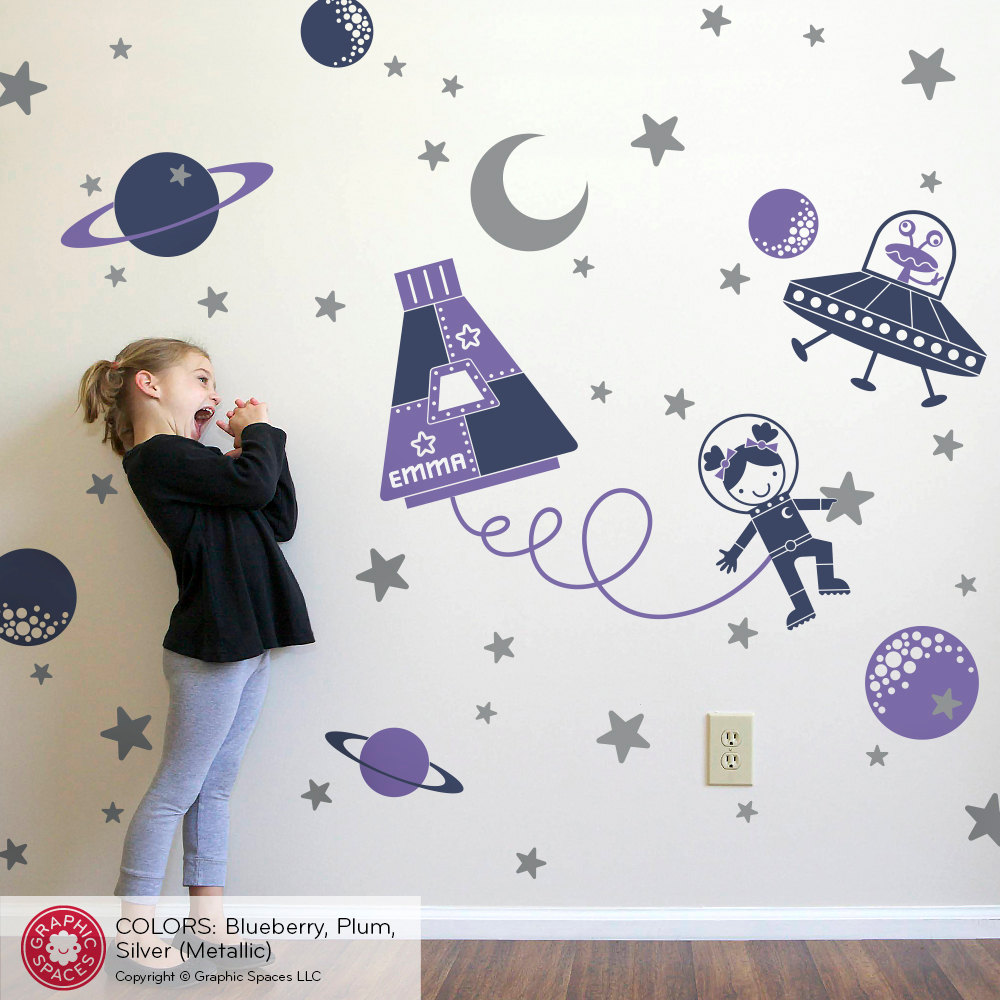 Outer space clipart for rooms.