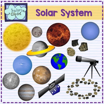 Solar system and outer space clipart {Science clip art}.