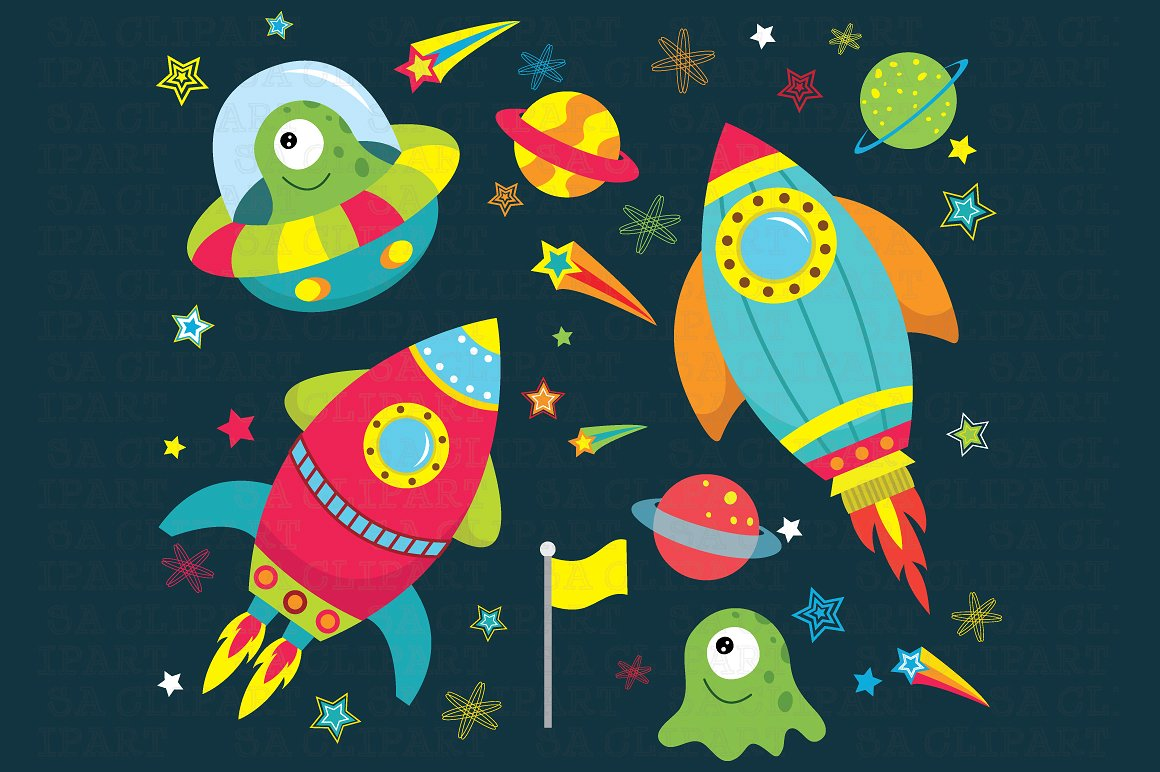 Outer space clipart Photos, Graphics, Fonts, Themes, Templates.