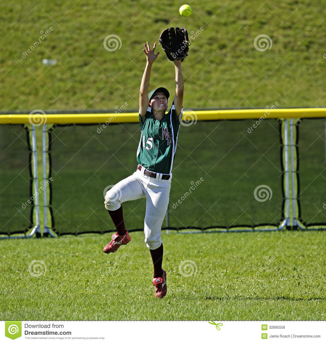Softball In The Outfield Royalty Free Stock Image.