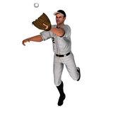 Baseball outfielder clipart.