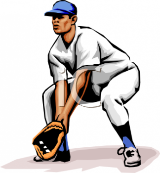 Gallery For > Baseball Outfielder Clipart Aerial View.
