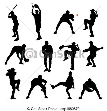 Outfielder Clipart and Stock Illustrations. 347 Outfielder vector.