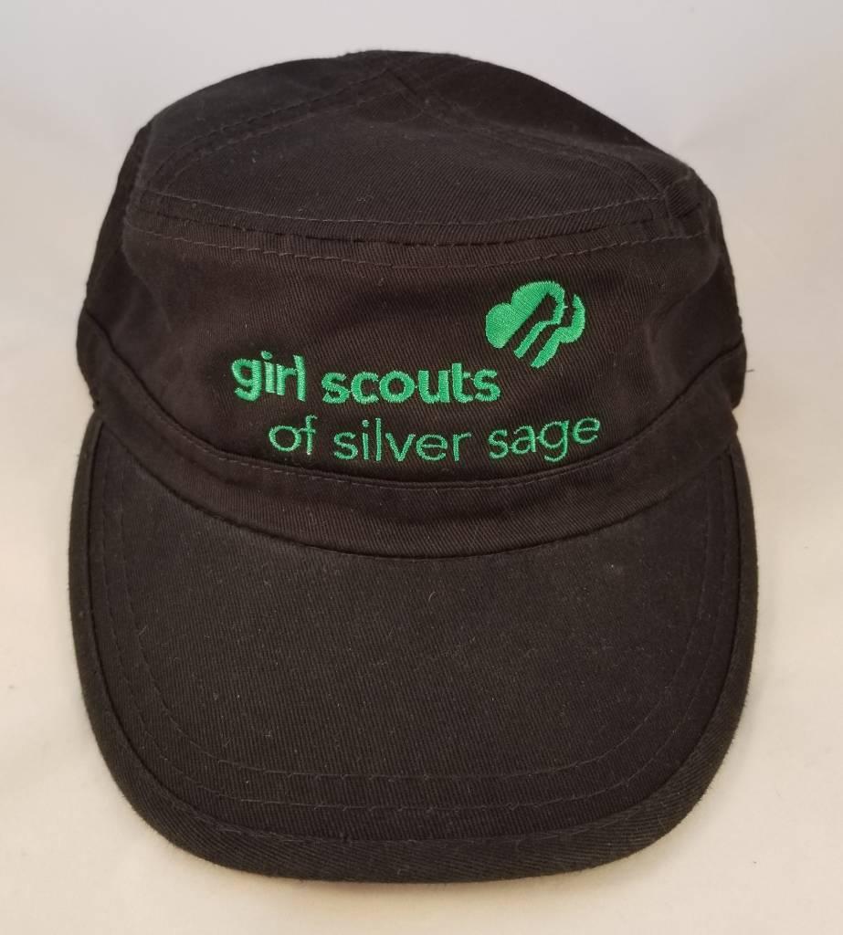 Outfit Your Logo Silver Sage Cadet Cap Black.