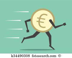 Cash outflows Clip Art Vector Graphics. 7 cash outflows EPS.