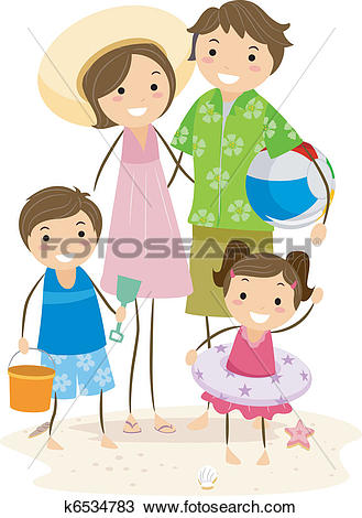 Family outing Clip Art Vector Graphics. 710 family outing EPS.
