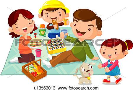 Drawing of melon, food, banana, fruit basket, picnic, outing.