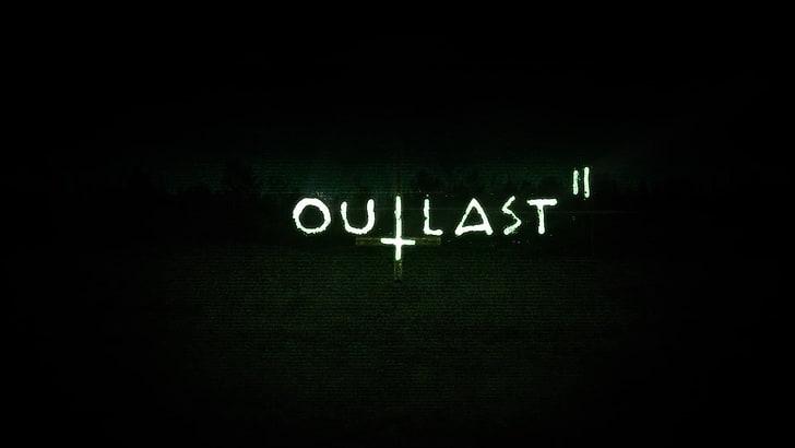 HD wallpaper: Video Game, Outlast 2, Logo, text.