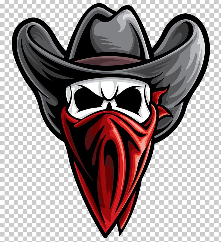 Outlaw Skull PNG, Clipart, Bandana, Clip, Cowboy.